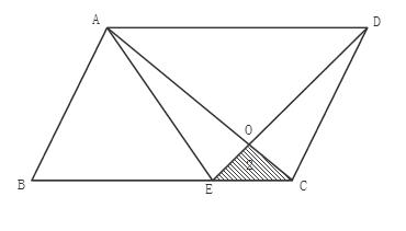 ,面积为12的正方形ABCD中,E、F是DC边上的三等分点,那么阴