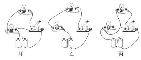 如图所示,找出下列电路连接中的错误与不足.