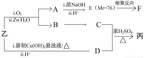 na 2co 3溶液      d. 乙酸 ②写出f的结构简式  .