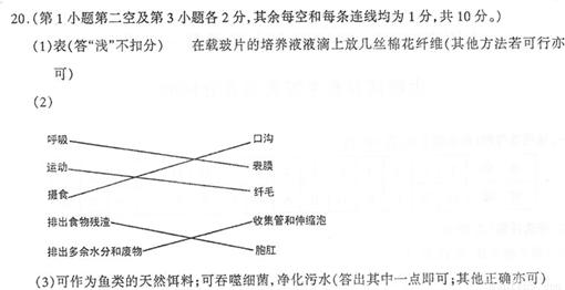 """""""习题详情  从草履虫的结构和功能及观察方法进行分析."""