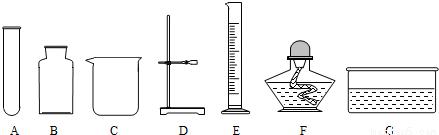 给下列多��ke_下列图中实验仪器分别或经组合可进行多项常见化学实验.