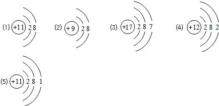 """原子结构示意图与离子结构示意图知识点 """"根据下列粒子结构示意图:用"""