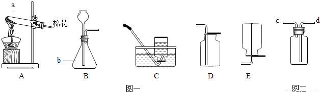 (2)实验室用高锰酸钾制取氧气的化学反应原理是