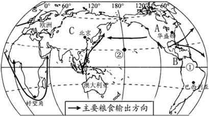 """""""读南北半球海陆分布图,完成下列要求①世界.""""习题详情"""