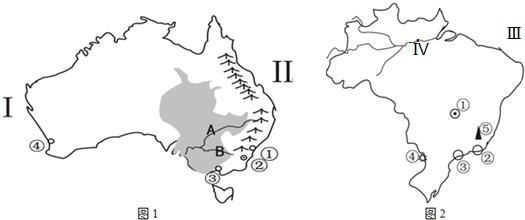 读日本,俄罗斯地图(图1,图2).回答下列问题.