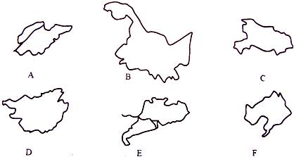 手绘地理轮廓图