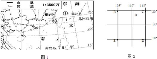 (1)图中字母表示的海洋名称:a海域和b海域为我国内海的是