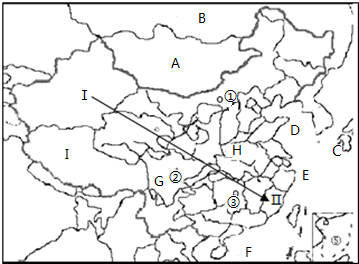 """""""习题详情  (1)写出图中字母代表的地理事物名称: a蒙古 ,b俄罗斯"""