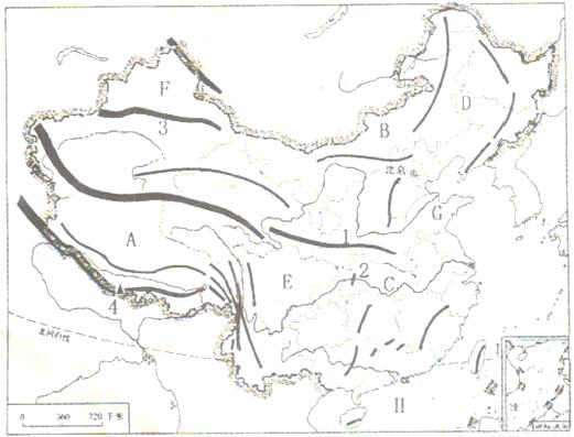 地图 简笔画 手绘 线稿 521_397