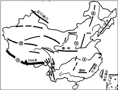 """读""""中国地形图""""(如图),回答下列问题"""