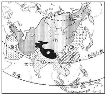 亚洲候类型分布�_读\