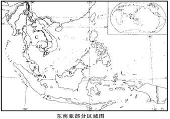(4)中南半岛地形,河流的分布特点是&