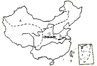 """读""""我国四大地理区域划分图"""",回答下列问题.图片"""