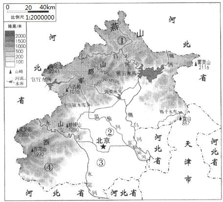 北京市位于太行山,燕山和华北平原的结合部,是中华人民共和国的首都