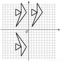"""利用平移设计图案知识点 """"平移方格纸中的图形(如图),使a点平移到.图片"""