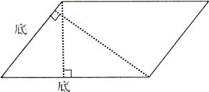 分别画出下面平行四边形两条底边上的高.