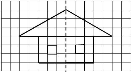画出下面图形的轴对称图形