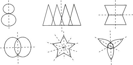 画出如图图形的对称轴