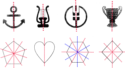 画出下面图形的对称轴.