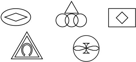 画出下面图形的对称轴. (能画几条就画几条)