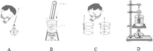 关于温度计的使用,下面方法正确的是