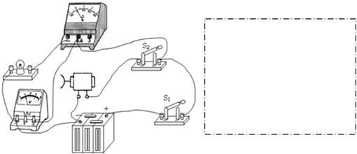 如图是某同学连接的实物图,请在虚线框内画出对应的电路图.