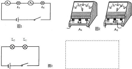 某同学希望通过比较电路中不同位置的电流表的读数来研究串联电路的