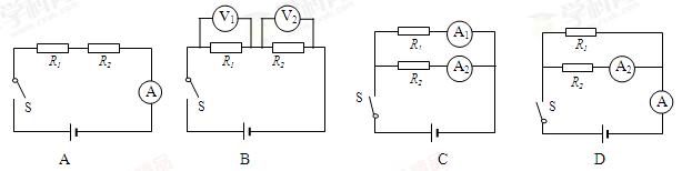 """""""将未知电阻r1,r2串联后接入电压恒定的.""""习题详情"""
