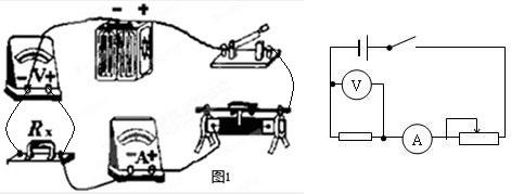 实验桌上准备的器材如图1所示:一个电池组(电压稳定),一个电流表,一个