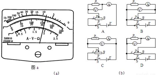 """多用电表调零后用""""×100""""挡测量一个电阻的阻值,发现表针偏转角度很小"""