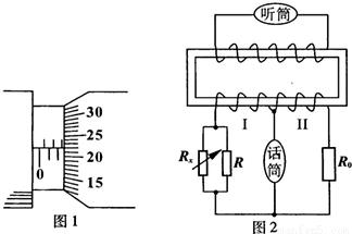 (1)图1中螺旋测微器的读数为_.(2)原始的电话机