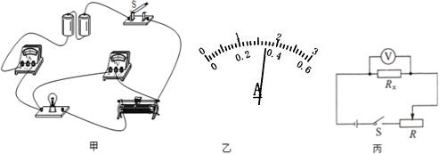 两位同学通过分析,用现有的电源设计了如图丙所示的电路,实验时首先将
