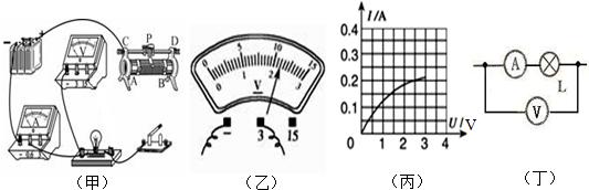 经过分析,习题小华同学在测定小灯泡的电功率实验中,所用电源电压不变,实验器材齐全且完好,小灯标有2.5V字样.小华正确串联实验器材,并将滑片放置于变阻器的一端,然后将电压表并联在电路中.闭合电键后,电压表的示数如图所示,此时小灯泡发光较暗.接着移动变阻器的滑片,观察到电流表、电压表的指针向相反方向偏转,则他在连接电路时存在的问题是____.经过思考,小华重新实验,他正确连接电路,操作步骤正确.闭合电键后,发现电压表指针所指的刻度仍与图所示一致.接着他移动变阻器的滑片,直到小灯正常发光,此时滑动变阻