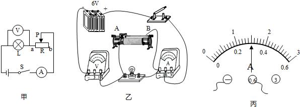 """同学在""""测量小灯泡的电功率""""实验中连接的实验电路"""