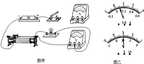 """是""""测定小灯泡的电功率""""实验的实验电路"""