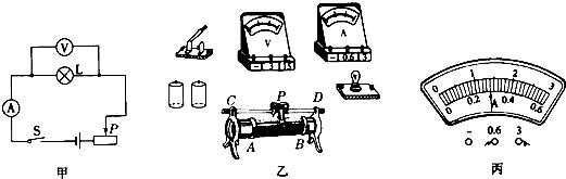"""如图(甲)是""""测量小灯泡的电功率""""实验电路图,小灯泡的"""