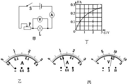 """如图甲是小明做""""测量小灯泡电功率""""的实验的电路图,已知电源电压为3v"""