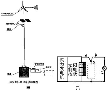 太阳能路灯的灯杆顶端是太阳能电池板,它能将太阳能转化为电能,并向