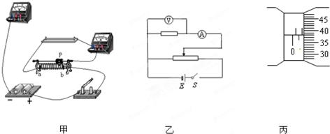 (2)某同学在做测金属丝电阻率的实验中,取一根粗细均匀的康铜丝,其中