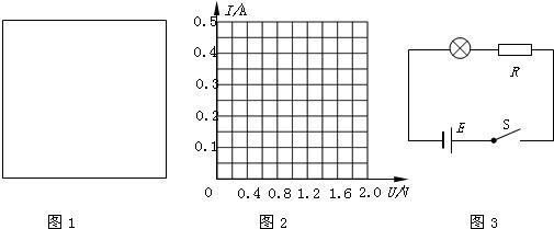 (2)在图2中画出小灯泡的i一u曲线; (3)把本题中的小灯泡接到图3示电路