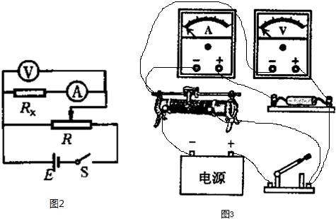 电路的特点可知:本实验的测量值是待测电阻与电流表内阻串联的阻值,则