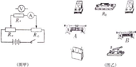 """""""习题详情  (1)在图甲的电路图中把电压表连接到正确的位置上."""
