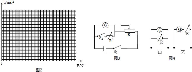 """(2)①把电流表改装成电压表,常用""""半偏法""""测电流表的内阻,电路如图3"""