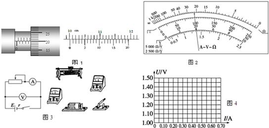 (3)在用电压表和电流表测电池的电动势和内阻的实验