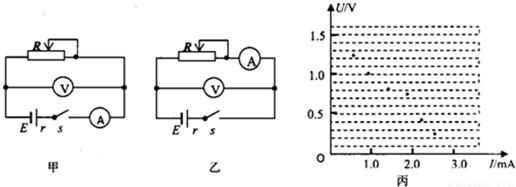 现要求你用量程合适的电压表(内阻较大),电流表(内阻较小)来测定水果