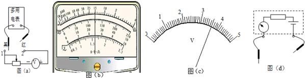 (2)将图(a)中多用电表的红表笔和&nbsp