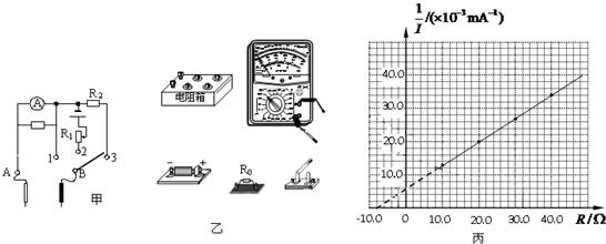 是一个简易的多用电表简化电路图