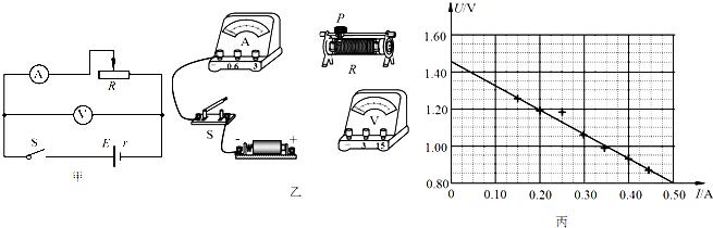 """""""习题详情  用图甲所示的电路,测定一节旧干电池的电动势和内阻."""