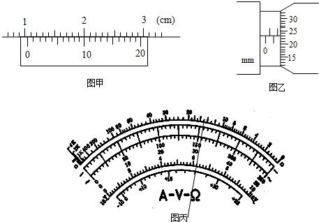 如图所示为用多用电表测电路中电流的实验