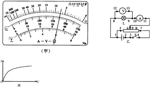 的阻值后,断开两表笔 c.旋转S使其尖端对准欧姆档1k d.旋转S使其尖端对准欧姆档100 e.旋转S使其尖端对准OFF,并拔出两表笔 f.调节调零螺丝T,使指针指在表盘左边0刻线上; (3)下述关于用多用表欧姆档测电阻的说法中正确的是 A.测量电阻时若指针偏转角过大,应将选择开关S拨至倍率较小的档位,重新欧姆调零后测量 B.测量电阻时,如果红、黑表笔分别插在负、正插孔,则会影响测量结果 C.测量电路中的某个电阻的阻值时,应该把该电阻与电路中的其它电器断开 D.测量阻值不同的电阻时都必须重新进行欧姆调零